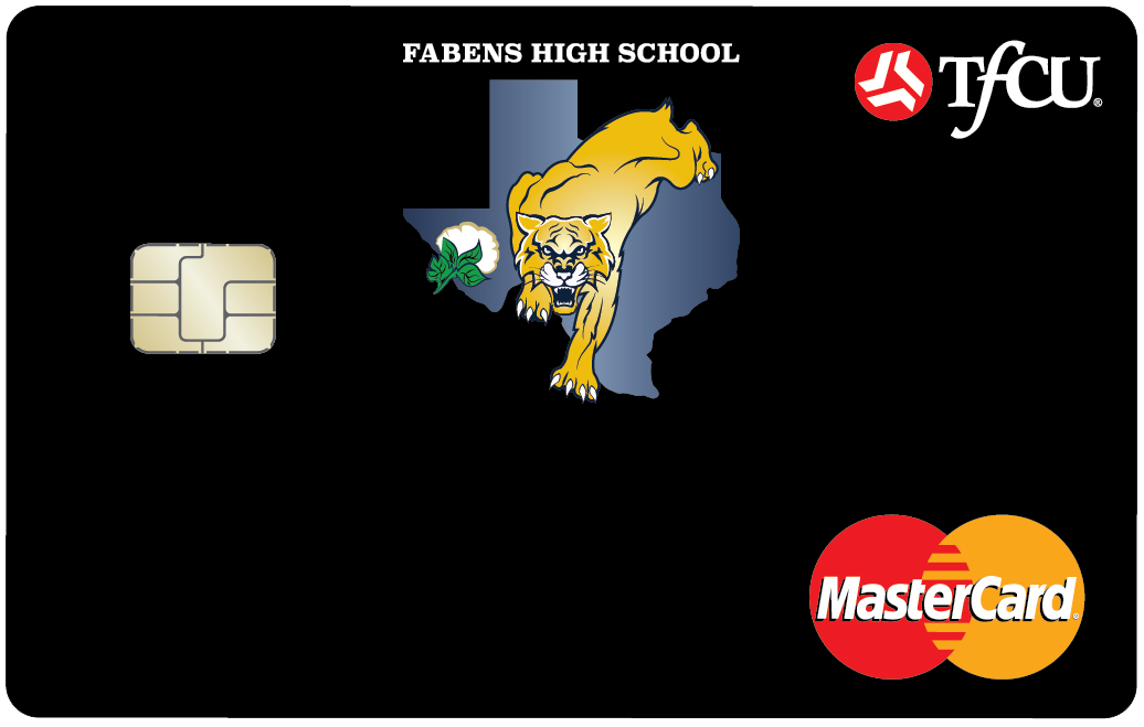 high school logo debit card